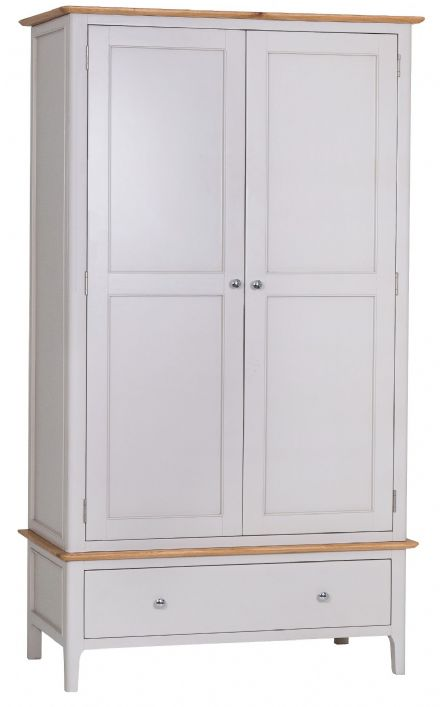 Newhaven Grey Painted Double Wardrobe